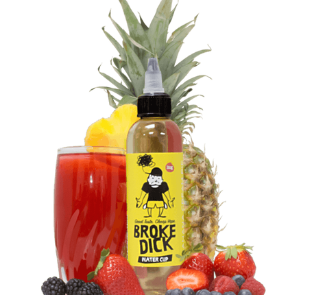Review of Water Cup E-Juice by Broke Dick