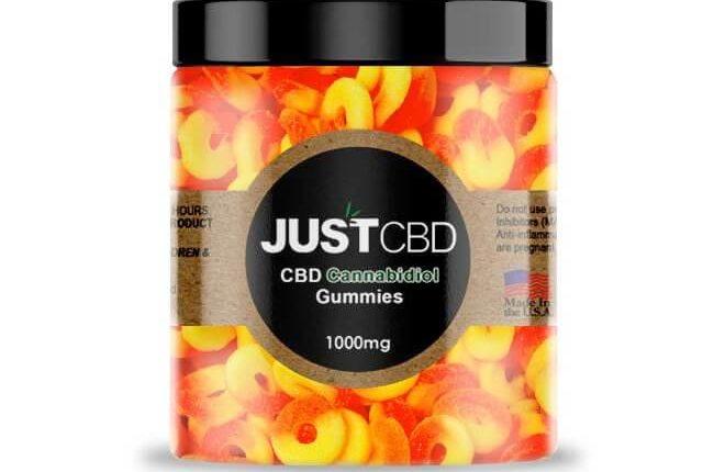 Just CBD's CBD Peach Rings Gummies Review